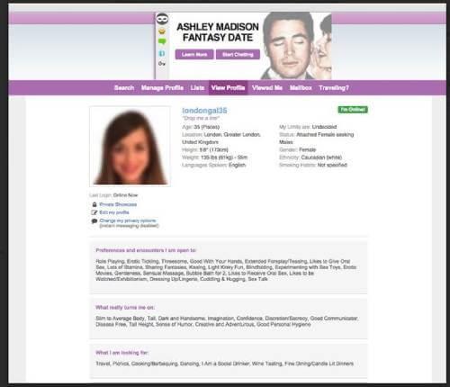 AshleyMadison profile