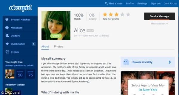 OkCupid profile