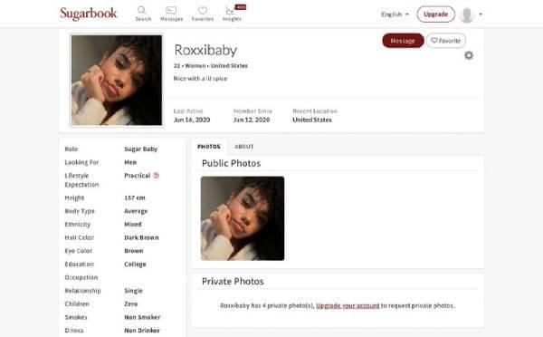 SugarBook profile